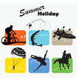 Active rest summer holiday set icon vector image vector image