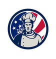 american baker chef usa flag icon vector image vector image