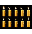 animation candle flame romantic holiday animated vector image