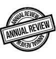 Annual Review rubber stamp vector image vector image