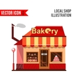 Bakery building with cakes donuts and pies vector image vector image