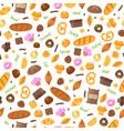 baking seamless pattern vector image vector image