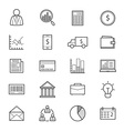 Business and Finance Money Icons Line vector image vector image