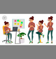 business woman lady character working vector image vector image