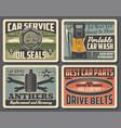 car repair service auto parts shop vector image