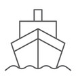 cargo ship thin line icon transportation and vector image vector image