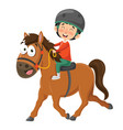 child riding horse vector image