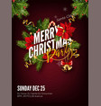 christmas background or greeting poster template vector image