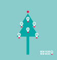 christmas tree with light bulb successful vector image