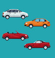 color background of set with modern car vehicle vector image vector image