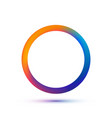 colorful circle logo template abstract vector image