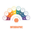 colorful semicircle and circles elements of vector image vector image
