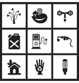 Concept flat icons in black and white ecological vector image vector image