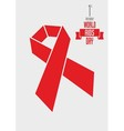 concept with Red ribbon aids awareness vector image