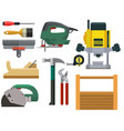 construction building tools carpenter industry vector image vector image