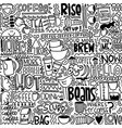 crazy for coffee seamless pattern vector image vector image