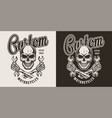custom motorcycle monochrome label vector image vector image