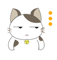 Cute cat character vector image vector image