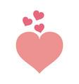 cute hearts cartoons vector image vector image