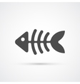 Fishbone trendy icon vector image vector image