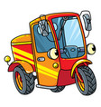 funny small scooter or car with eyes vector image vector image