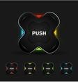 futuristic button vector image