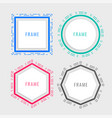 geometric memphis style frame design vector image vector image