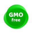gmo free icon green non logo sign vector image vector image