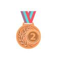 gold medal golden 1st place badge sport vector image