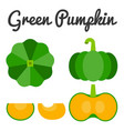 green pumpkin set 1 vector image vector image