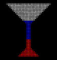halftone russian martini glass icon vector image vector image