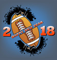 happy new year 2018 and football vector image