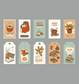 hygge winter holidays label tag and cozy greeting vector image