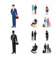 isolated object of character and avatar icon vector image vector image