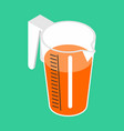 jug with orange juice isolated isometric orange vector image