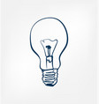 light bulb one line design element isolated vector image