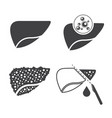 liver cancer icons set vector image vector image