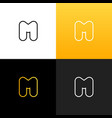 logo m linear logo of the letter m vector image vector image