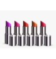 modern lipstick set on white vector image