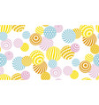 modern summer pale color geometry pattern vector image vector image