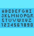 old video game pixel font vector image vector image