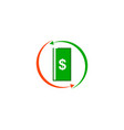 payroll brand logo for business and money vector image vector image