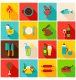 picnic grill colorful icons vector image vector image