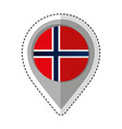 pin location norway flag icon vector image vector image