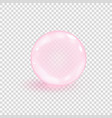 pink collagen bubble isolated on transparent vector image