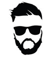 portrait a man in glasses with a beard vector image vector image