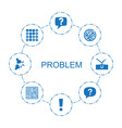 problem icons vector image vector image