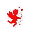 Red cupid silhouette
