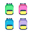 schoolbag cartoon colorful vector image