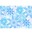 seamless pattern with transparent snowflakes for vector image